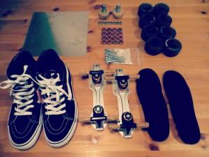 custom skates | vans sk8hi | rollerskates